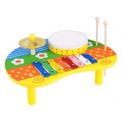 Drevený hudobný stolík 3v1