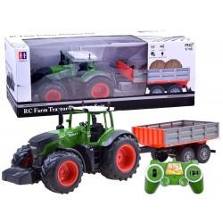 Veľký traktor s vlečkou na diaľkové ovládanie, 2,4 GHz