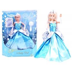 Anlily – Nádherná bábika Elza v modrých šatách