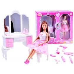 Anlily – krásna bábika Barbie s toaletným stolíkom a príslušenstvom