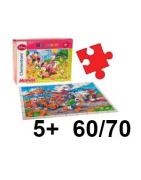 Puzzle 60 a 70 dielov, 5+